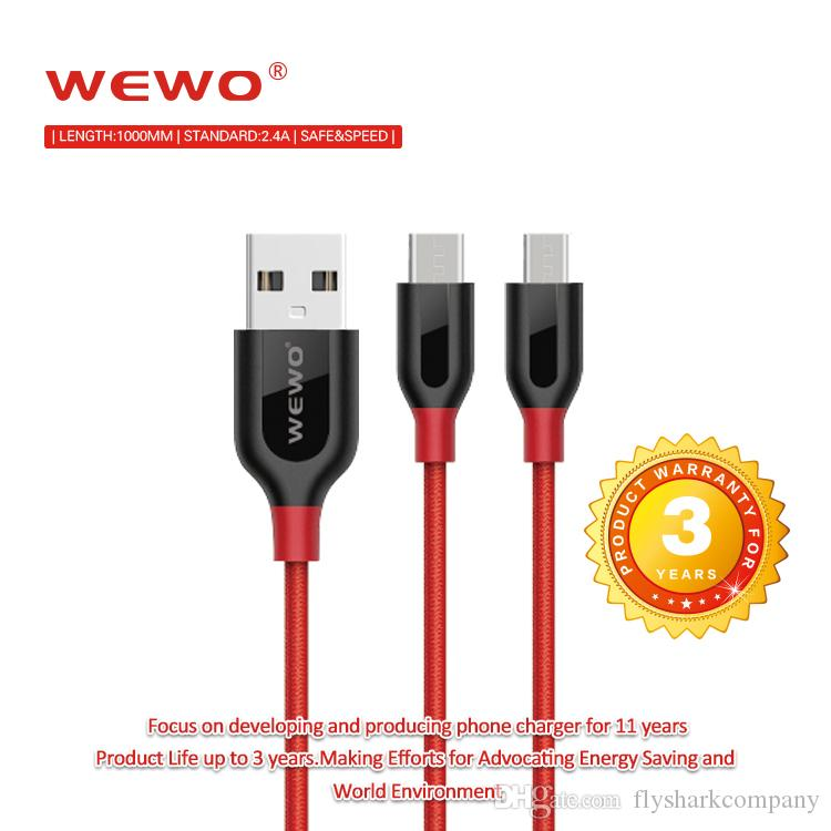 Usb Cables 5v2.4a Metal Nylon Braided Wire Usb Charger Sync Data ...