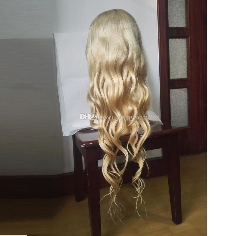 Brazilian human hair body wave wig blonde ombre human hair Full Lace wig lace front wig with baby hair for african americans women