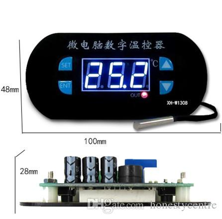 W1308 DC12V Temperature temp Controller Adjustable Cool Heat Sensor Thermostat Switch for greenhouse Planting