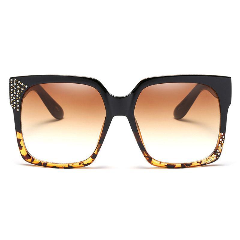 Black Big Square Frame Sunglasses Women Diamond 2017 Newest Brand ...