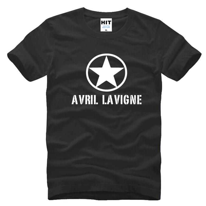 65f6b6885 Compre Avril Lavigne Camisetas Hombres Moda Impresión 2017 Verano Camiseta  De Manga Corta Algodón O Cuello Funs Tops Tees Envío Gratis SL 745 A  5.59  Del ...