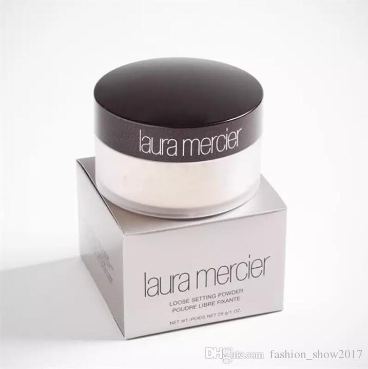Alta Qualidade Translúcida Laura Merci Solto Definindo Pó Maquiagem Profissional Pente Libre Fixante Brighten Corretionador