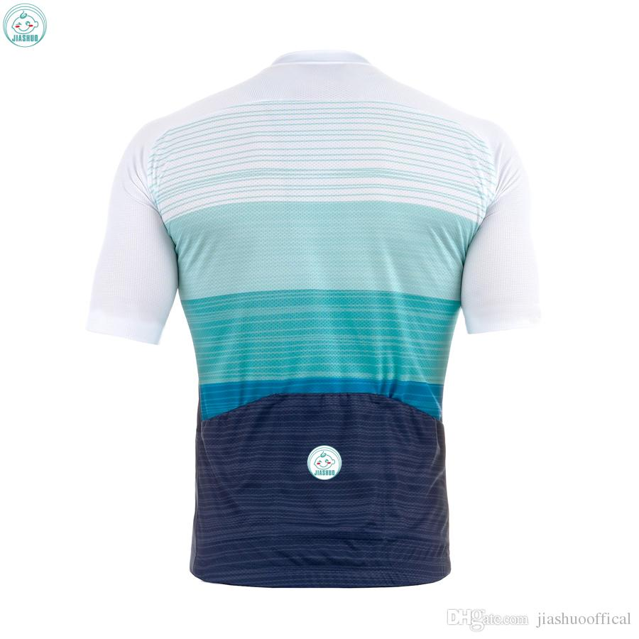 Özelleştirilmiş YENI Sıcak 2017 Renkler JIASHUO mtb yol YARıŞ Takımı Bisiklet Pro Cycling Jersey / Gömlek Tops Giyim Nefes Hava