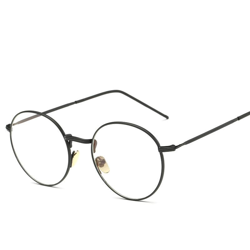 Wholesale- Anti Blue Light Computer Glasses Gaming Glasses Spectacle Women  Men Of Metal And Vintage Eyeglasses Round Full-Rim gd3302