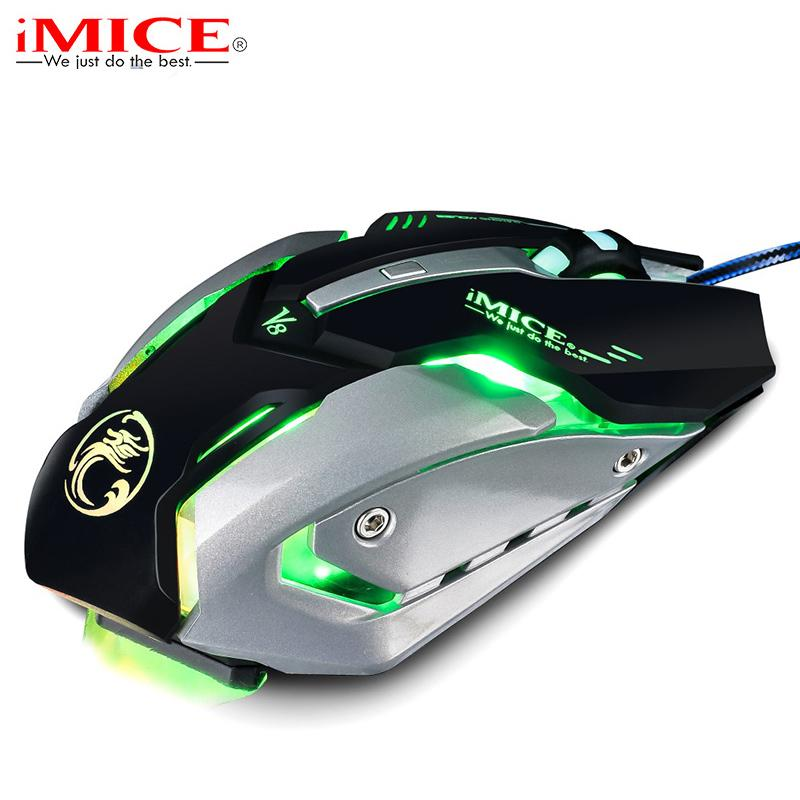 45bd35473b6 2019 IMice V8 Professional Custom Program Wired Gaming Mouse 4000DPI  6Button LED Optical Computer Game Mouse Mice Gamer For PC Laptop From  Candy916_zhang, ...