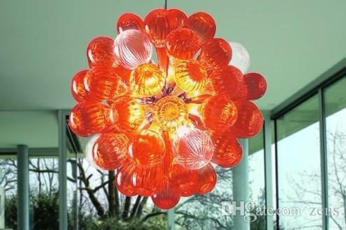 Lampadario in vetro soffiato a bocca moderna illuminazione lampadario di alta qualità in vetro di Murano led bolle a palla ombra lampadario la casa