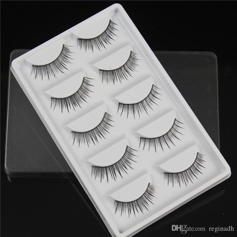 mix False eyelashes of fan-shaped long paragraph natural curling up the eyelashes W38 Smokey Makeup Eye Lashes wholesale