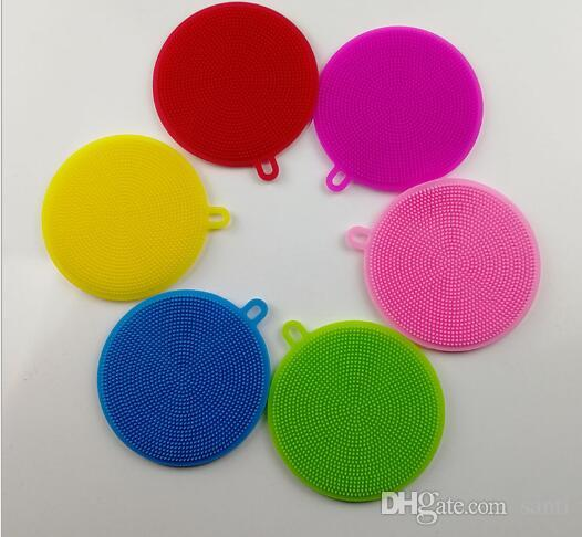 Multi-fonction Magic Silicone Dish Bowl Cleaning Brushes Scouring Pad Pot Pan Wash Brushes Cleaner Kitchen Accessories