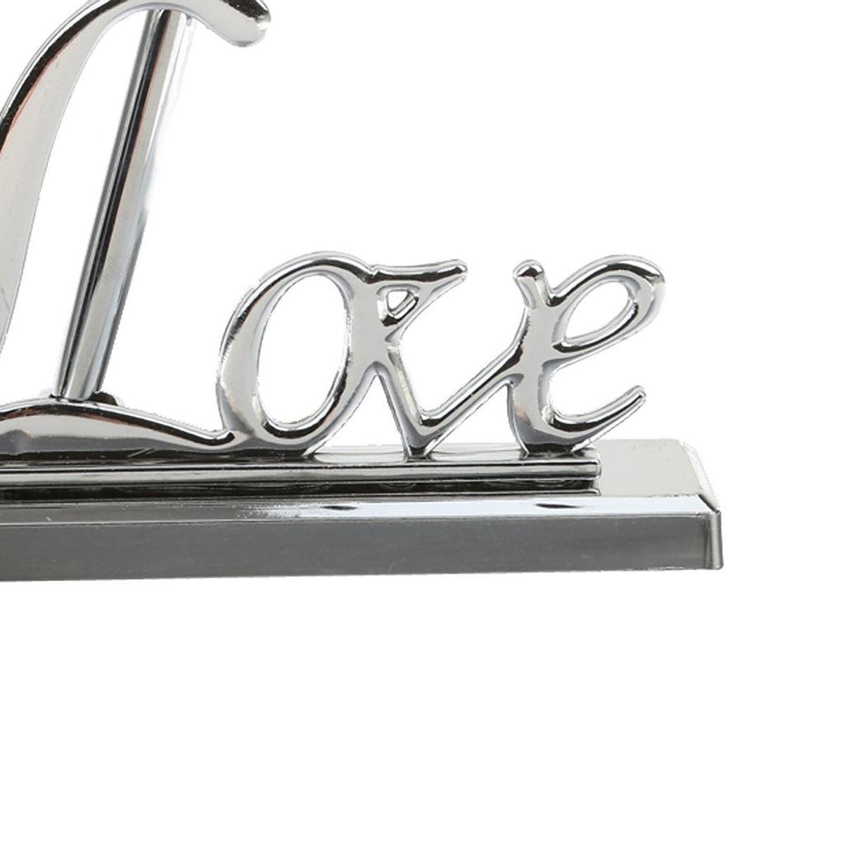 Stylo de signature de mariage avec métal plaqué argent Love Holder Party Pen Set (Argent)