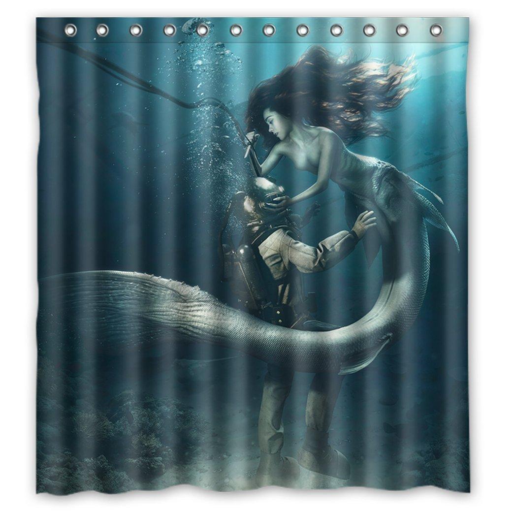 2018 Pretty Lovely Little Mermaid Beauty Deep Sea Ocean Bottom Waterproof  Fabric Bathroom Shower Curtain 66 X 72 From Littleman913, $40.2 | Dhgate.Com