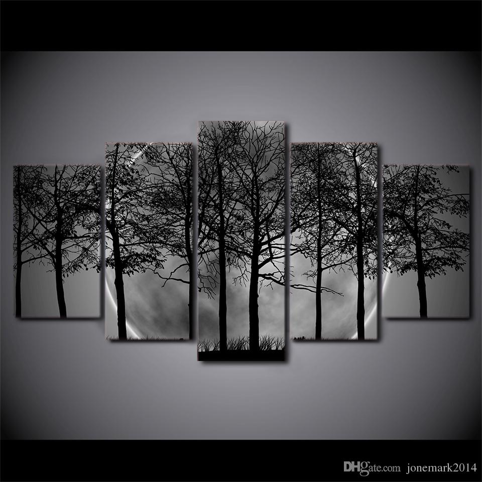 framed hd printed black and white tree forest canvas art  -  framed hd printed black and white tree forest canvas art paintingposter picture for home decorative wall picture from jonemark  dhgate