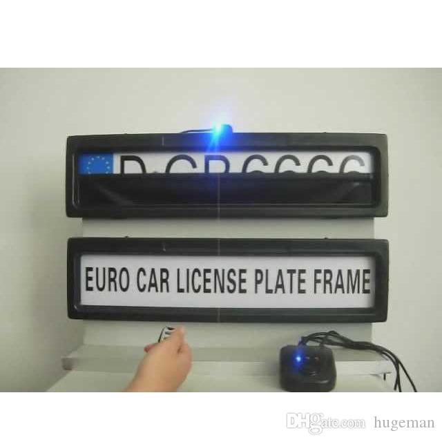 Remote Car Plate Cover Licence Plate Frame Holder Fit EUROPE RUSSIA Cars  Curtain Closed Plate Frame Size 530*135*25mm Licence Plate Frame Holder  Curtain ...