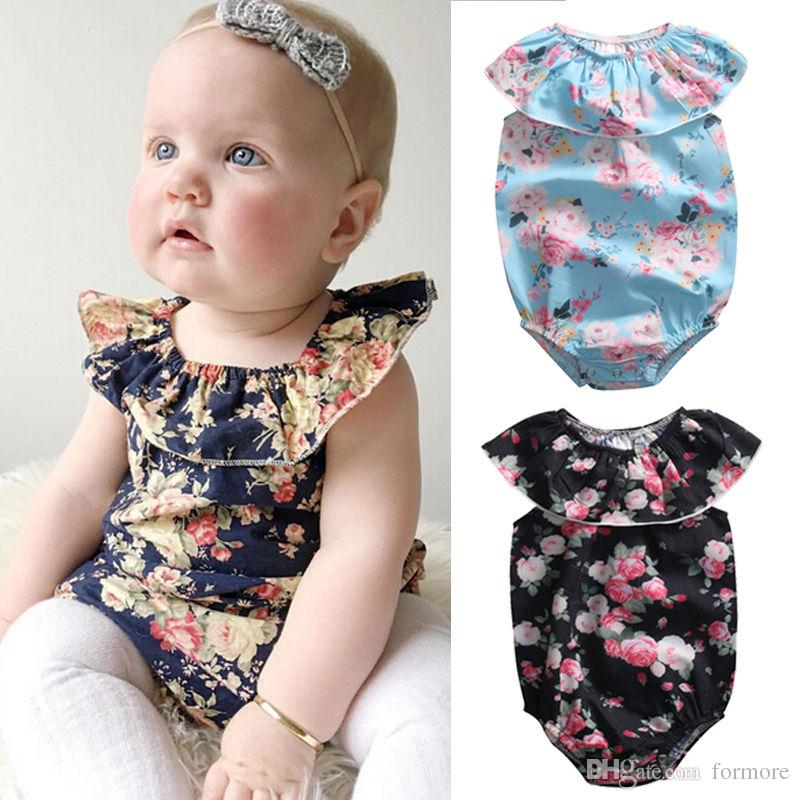 3c9a71736dd 2019 Little Girls Baby Rompers Chirldren Boutique Clothing Pretty Infant  Outfit Roupas Bubble Jumpsuit Sunsuit Toddlers Onesies Candy Pajamas From  Formore