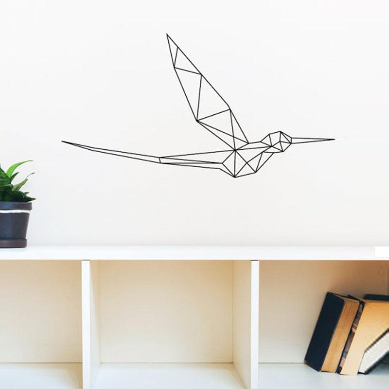 b58b6d973e Geometric Bird Wall Decals Vinyl Art Stickers Home Decor Living Room Wall  Stickers Self Adhesive Decorative Mural Wall Sticker Quote Wall Sticker  Quotes ...
