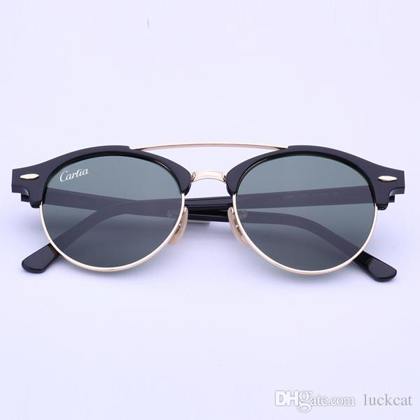 Newest Brand Club Sunglasses Round Men Sun Glasses Women Outdoor Retro  Clubround Double Bridge Sunglass Carfia Gafas De Sol 51mm Case Designer  Sunglasses ...