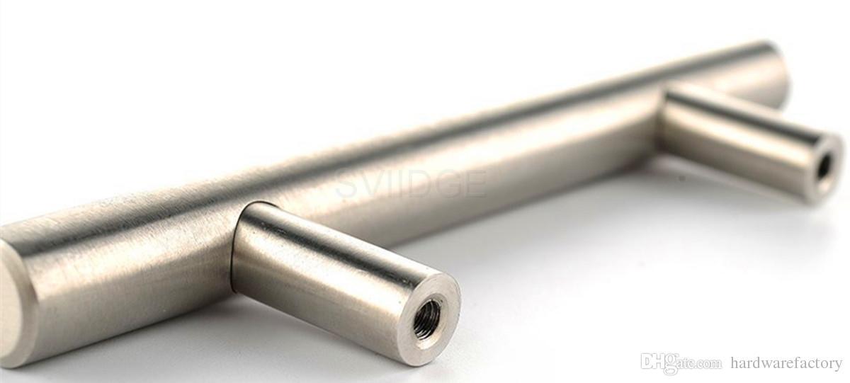 Cabinet T Bar Pull Solid Handle Stainless Steel Furniture Hardware Drawer Knob Kitchen Cupboard Door Handles
