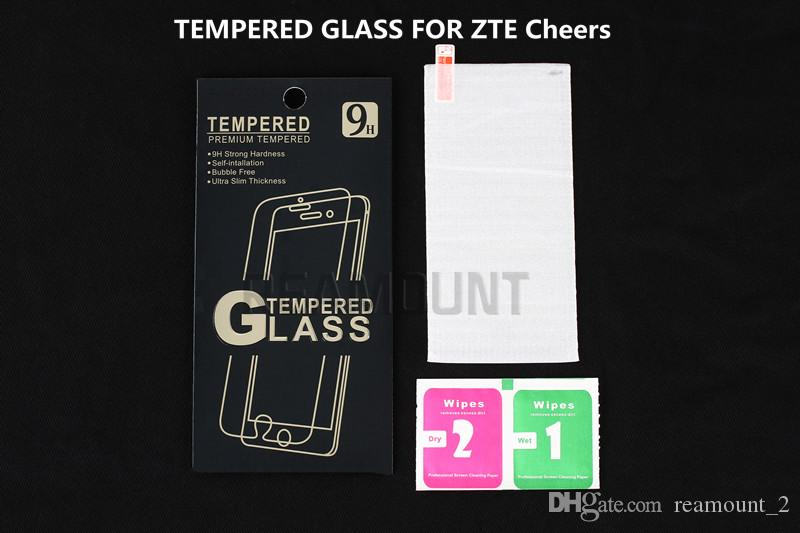 Wholesale With retail packaging Premium 0.3mm 2.5D Tempered Glass Film Explosion Proof Screen Protector For ZTE Cheers