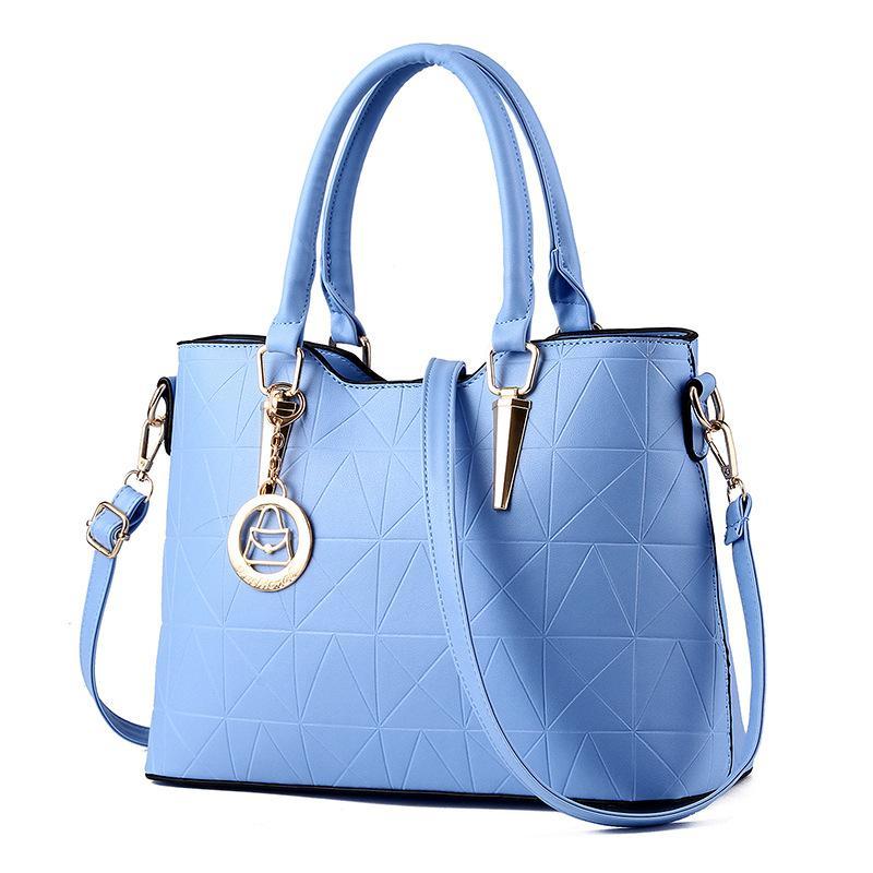High Quality PU Leather Female Bag Metal Sheets Decoration Handbags Sweet Ladies Elegant Luxury Women Shoulder Bags Bolsa Feminia