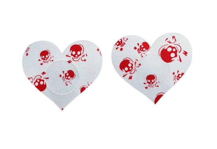 красный печататься сердце звезды черепа конструкций по защите окружающей среды безопасности охватывает сосок сексуальные синицы стикер Одноразовая груди колодки