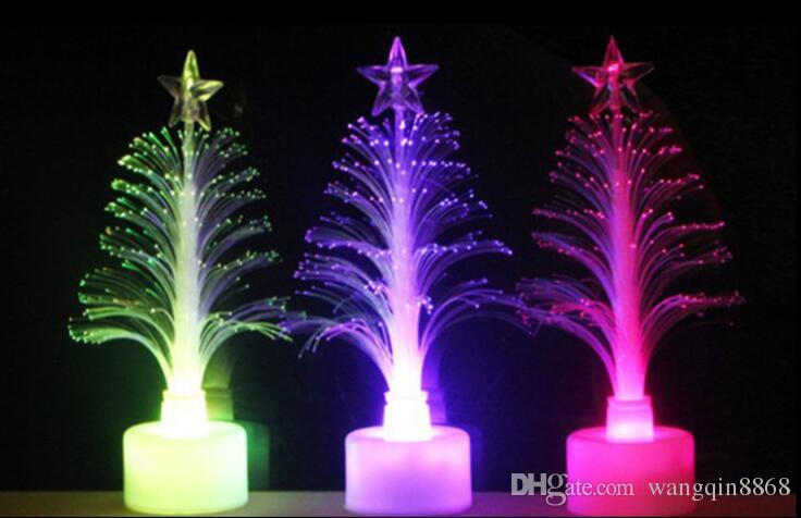 2017 new Hot sale new year LED colors Christmas tree gifts fiber optic light Christmas hat activity supplies