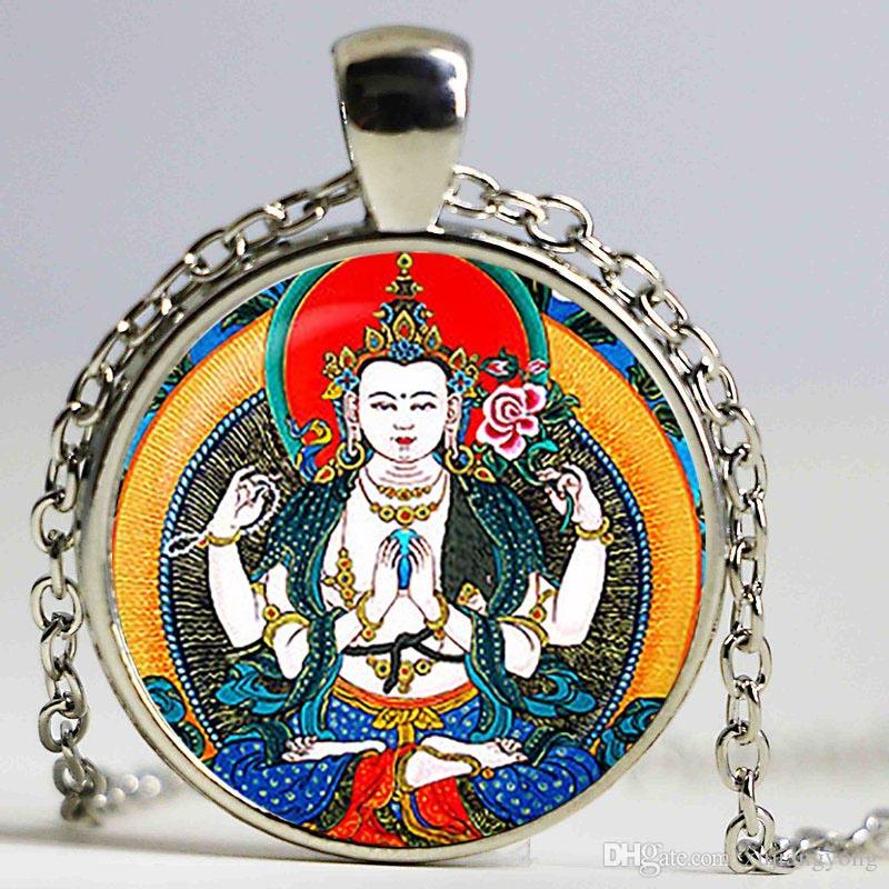 Wholesale buddha pendant and necklace buddha jewelry buddhist wholesale buddha pendant and necklace buddha jewelry buddhist pendant glass pendant necklacereligion personalized necklaces amethyst necklace from aloadofball Image collections