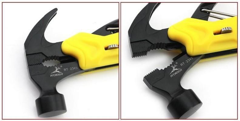 멀티 툴 야외 생존 나이프 7 1 포켓 멀티 기능 도구에서 설정 한 미니 접이식 플라이어 나이프 스크류 드라이버 망치 T02006을 접는