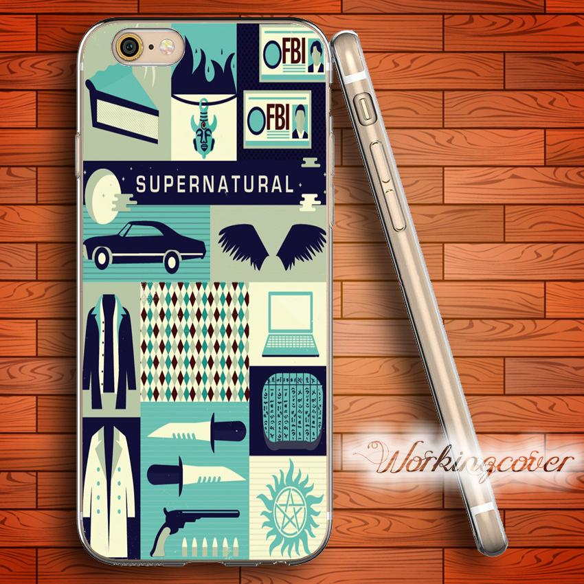 Fundas Para Móvil Funda Fundas Supernatural Collage Soft Clear Tpu ...