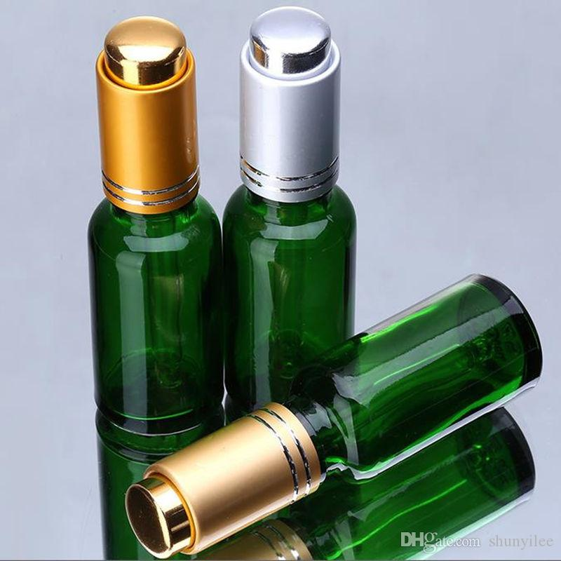 30 ml Botella de gotero de vidrio verde Botella 1OZ Botella de loción Aceite esencial Botella de aerosol de perfume Color verde F20172031