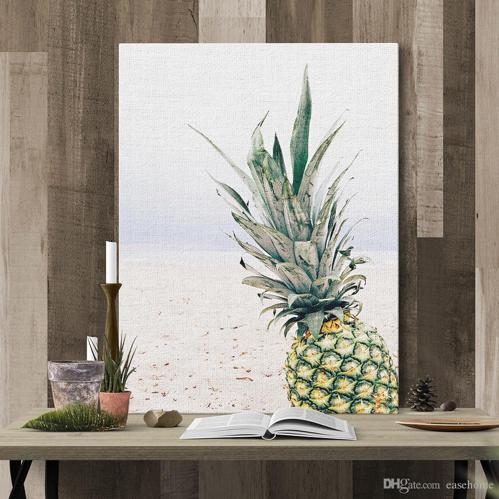 2017 горячие продажа ананас культурная печать живопись в 3 размеры картинки для украшения дома бесплатная доставка