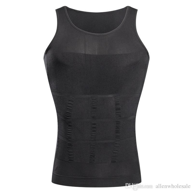 Elevador Fino Para Os Homens de Emagrecimento Colete Camisa Do Corpo Shaping Opp Embalagem Do Saco 100 pçs / lote Frete Grátis