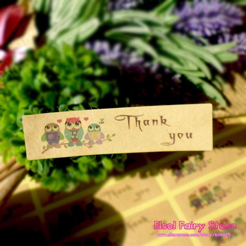 Big Size Owl Style Thank You Seal Sticker aa75683d6a86f