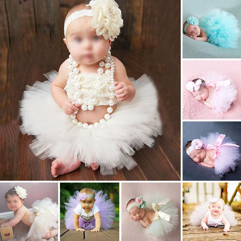 Discount wholesale newborn photography props infant costume outfit princess baby tutu skirt headband baby photography tutu skirt set from china dhgate com