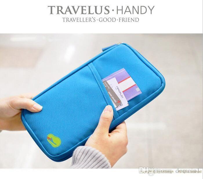 2017 Hot Sale Fashion Korea Fadish Functional Nylon Travel Passport ID Card Document Holder Case Bag Organizer Zipper Wallet Purse