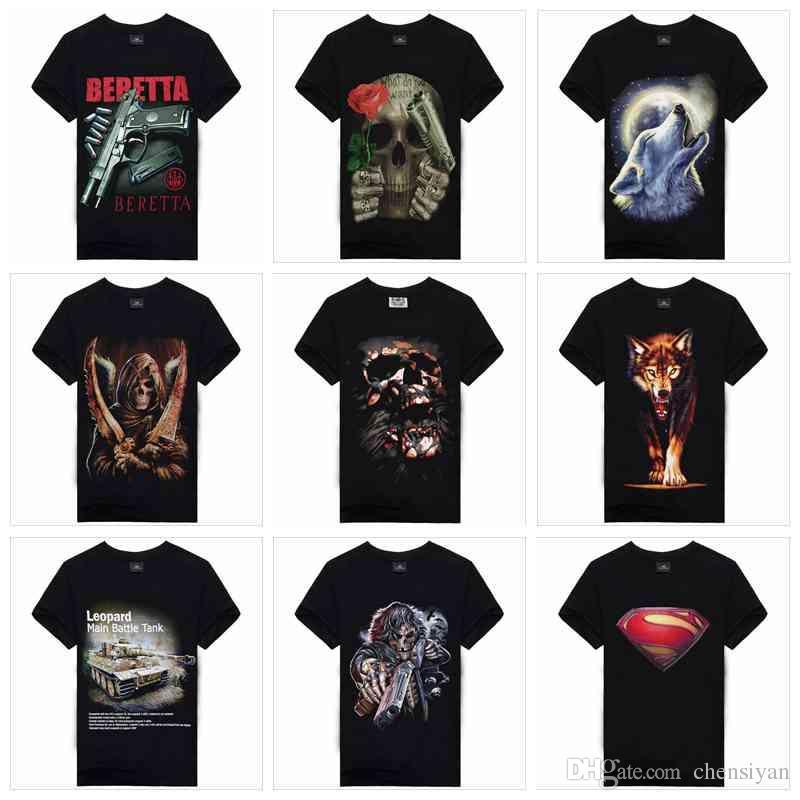 Summer Brand Clothing Skull Print 3d T Shirt Men T Shirts 100 ...