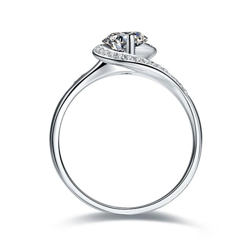 0.5CT Semi Mounting Synthetic Diamond Engagement Ring Solid Sterling Silver Women Annivesary Day Gift Last Forever Jewelry