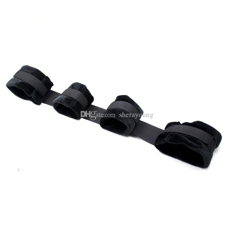 black furry nylon handcuffs hand leg cuffs female restraints straps erotic sex toys for adult bdsm bondage games GN252403100