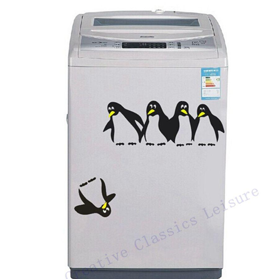 Funny Penguin Kitchen Fridge Sticker Fridge Decals Dining Room - Wall stickers for dining room