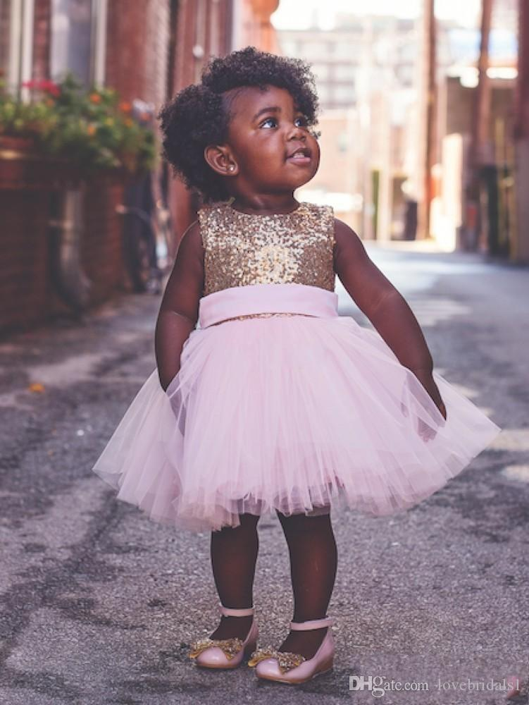 cute pageant dress for toddler sequin tulle knee-length weetheart design of back sash bow princess dress for brithday party dress