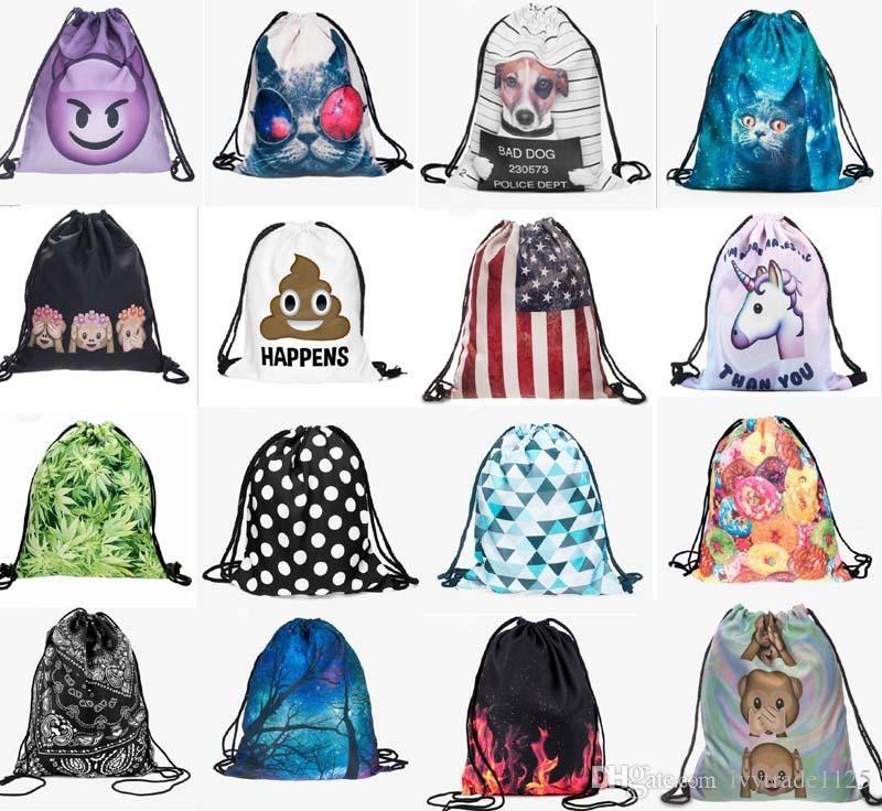 65ce8c3c42 More 200 Styles New Fashion Kids Adult Emoji Backpack 3D Printing Travel  Softback Women Mochila Drawstring Bag Mens Backpacks Wheeled Backpacks  Leather ...