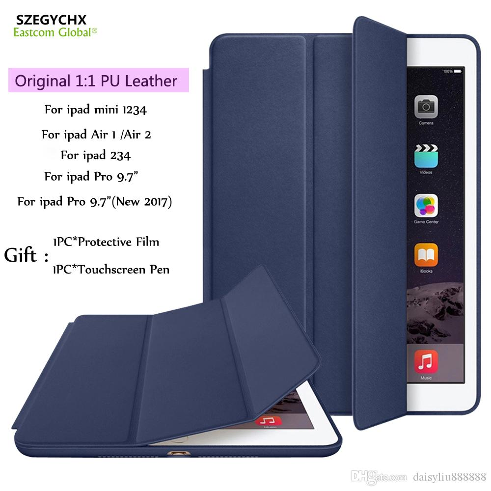 "Cover For iPad 9.7""2017 Air 2 Mini 4 Pro 10.5"" Pro 12.9"",Original Ultra Slim Stand Smart Cases For iPad 6 Auto Wake/Sleep"