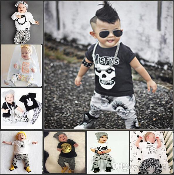 2018 2017 Summer Baby Fashion Style Baby Boy Clothes Set Baby Girl