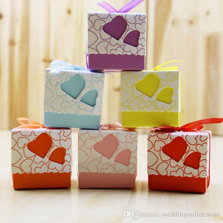 Hollow Heart Wedding Favor Baby Shower Birthday Party Candy Boxes
