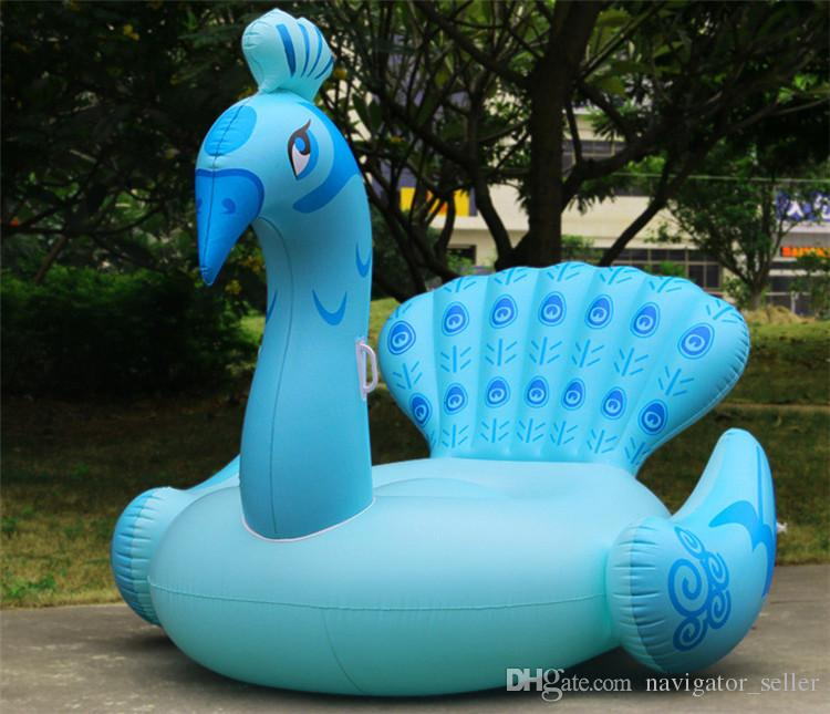 Kids Adult's Inflatable Float Ride-On Pool Toys Inflatable Swim Water Sports Beach Swimming Float Raft Air Mattress Peacock DHL/Fedex Ship