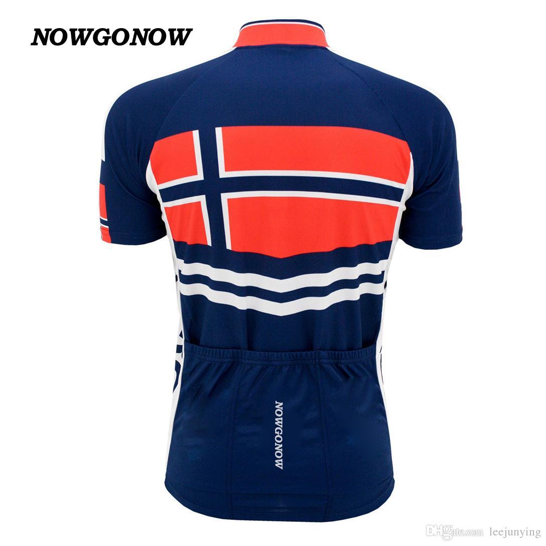 UOMO hot cycling jersey 2017 NORVEGIA darkblue red bike wear national team abbigliamento estivo outdoor Mountain mtb road riding racing NOWGONOW
