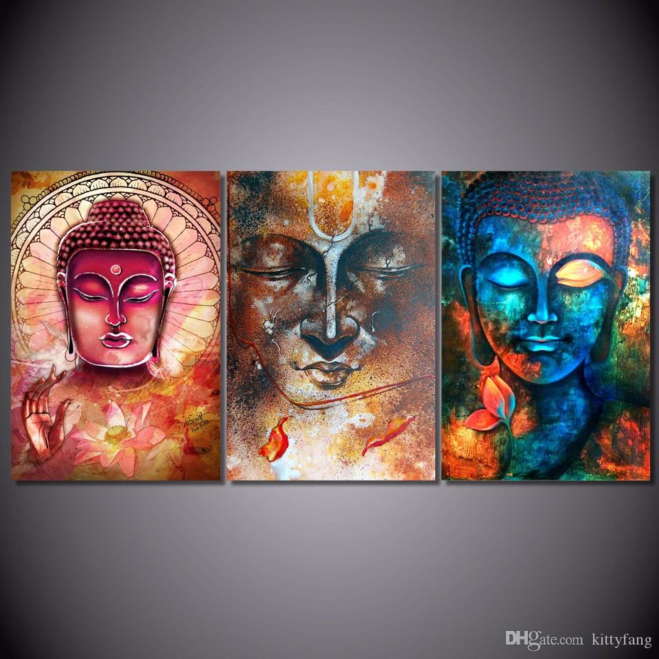 Großhandel / Satz Gerahmtes Hd Gedrucktes Buddha Bild Porträt Kunst ...