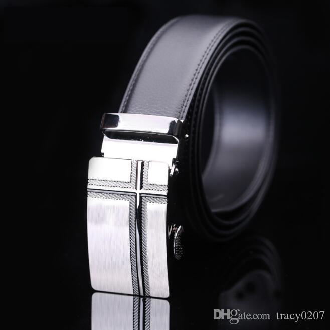 2017 Automatic Buckle Cowhide Leather men belt Fashion Luxury belts for men designer belts men high quality New Designer
