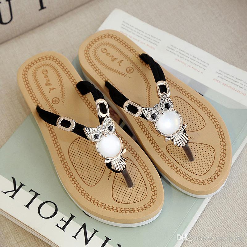 42a2061a0faa Women Flip Flops Slippers Fashion Summer Sandals Wedges Flip Flops Platform Slippers  Shoes Zapatillas Chinelo Sandalia SL214 Designer Shoes Brown Boots From ...