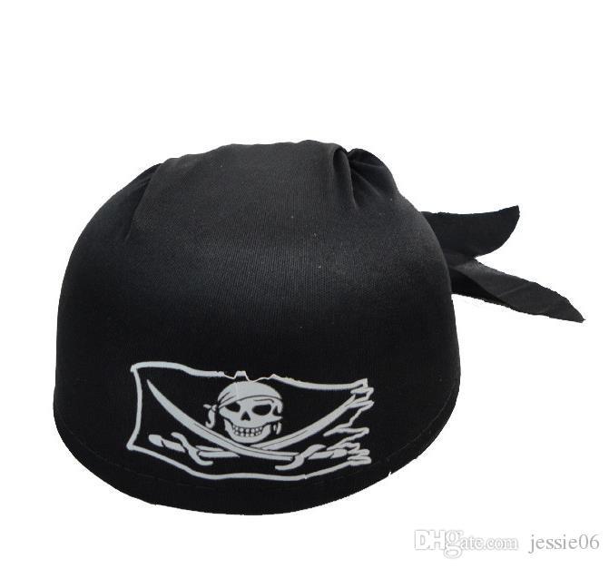 Fantezi Elbise Kafatası Korsan Kaptan Şapka kafa eşarp kap Parti Cadılar Bayramı Kostüm Eğlenceli Korsan Cosplay siyah Için Giyinmek Şapka