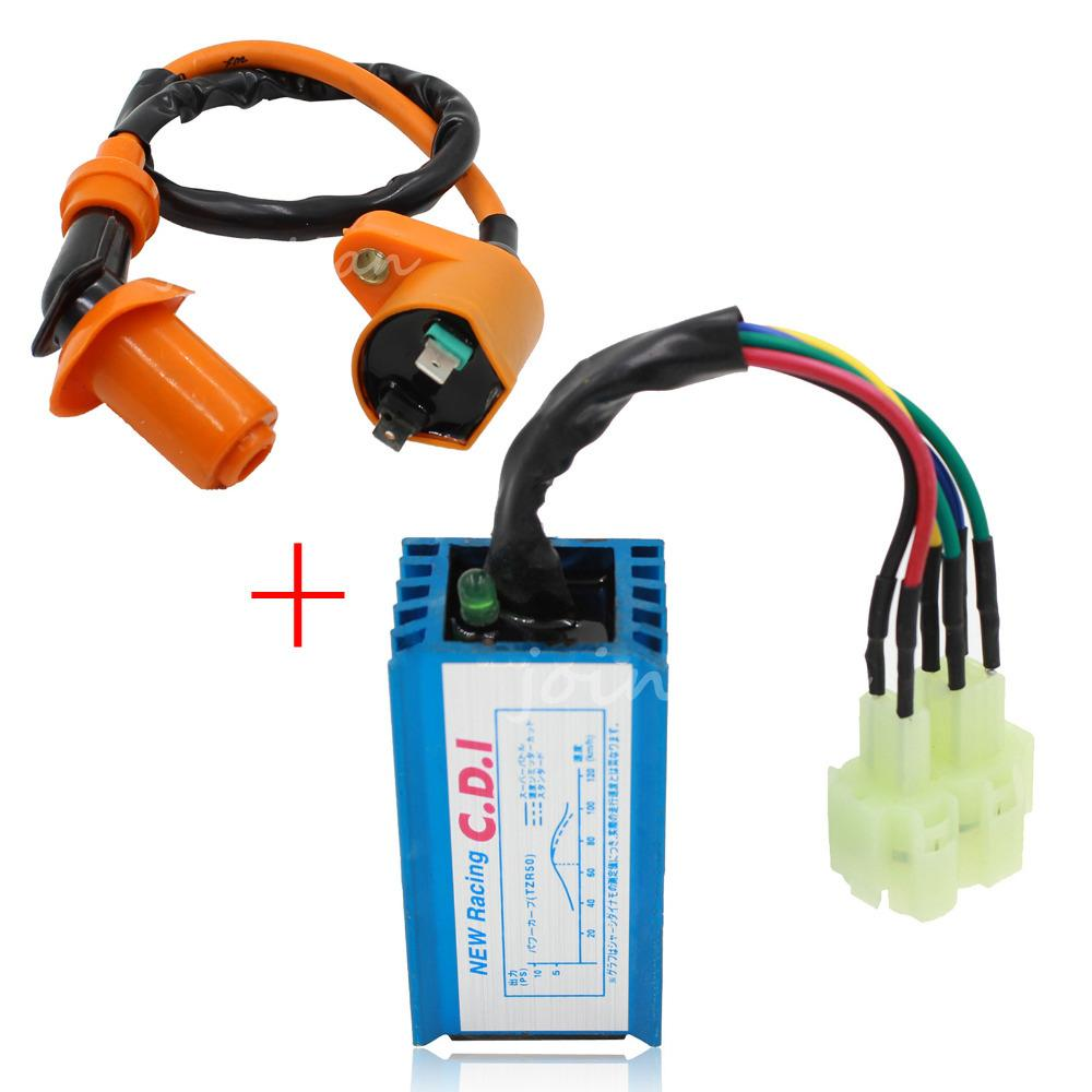 2018 performance 6 pin ac racing cdi box ignition coil for Jante GY6 Cdi Wiring Diagram GY6 150Cc Electrical Wiring Diagram