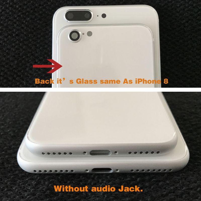 آيفون 7 7plus 6 6 ثانية 6 زائد 6 ثانية زائد إلى اي فون 8 نمط عودة الإسكان غطاء الإطار الألومنيوم معدن زجاج عودة استبدال مثل اي فون 8 زائد